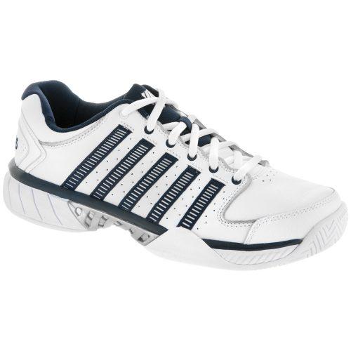 K-Swiss Hypercourt Express LTR: K-Swiss Men's Tennis Shoes White/Navy/Silver