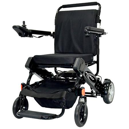 """Karman Tranzit Foldable Lightweight Power Wheelchair in Black 16"""" Seat Width - 1 ea"""