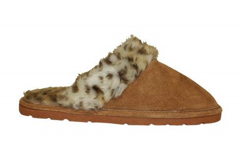 LAMO Sheepskin Scuff - Womens - leopard, medium