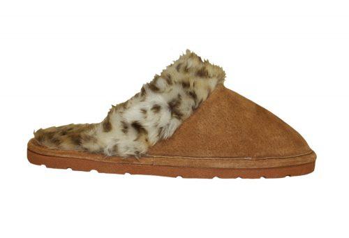 LAMO Sheepskin Scuff - Womens - leopard, small