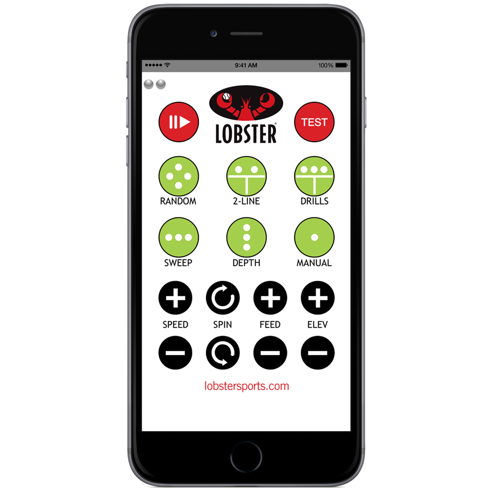 Lobster iPhone Remote: Lobster Sports Ball Machines