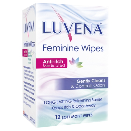 Luvena Anti-Itch Medicated Wipes - 12 ea