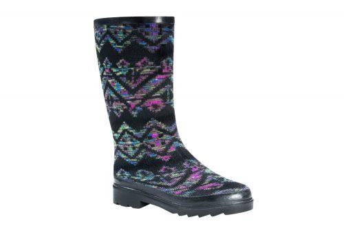 MUK LUKS Anabelle Rain Boots - Women's - geo space dye black, 6