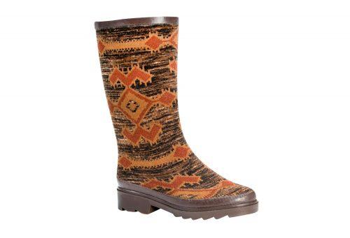 MUK LUKS Anabelle Rain Boots - Women's - zigzag tribal marl brown, 6