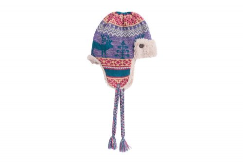 MUK LUKS Fairisle Trapper Hat - Women's - purple, one size