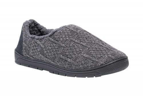 MUK LUKS John Slippers - Men's - blue steel, medium 10-11