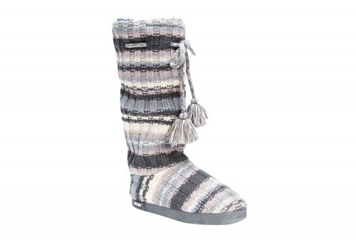 MUK LUKS Tall Grace Tie Boots - Women's - lilac chunky stripe, small 5-6