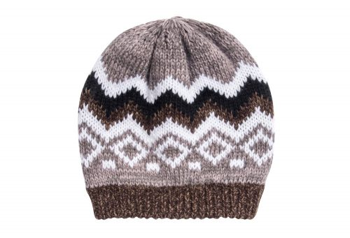 MUK LUKS ZigZag Beanie - Women's - brown, one size