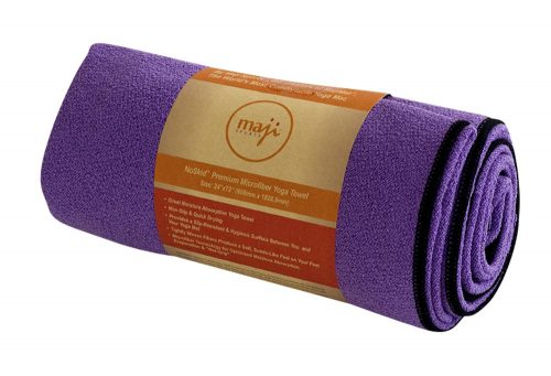 Maji NoSkid Yoga Mat Towel - purple, one size