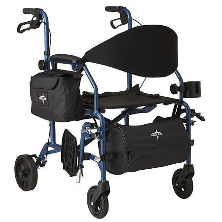 Medline Deluxe Combination Transport Chair and Rollator - 1 ea