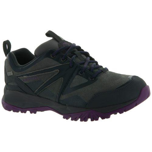 Merrell Capra Bolt Leather Waterproof: Merrell Women's Hiking Shoes Grey/Purple