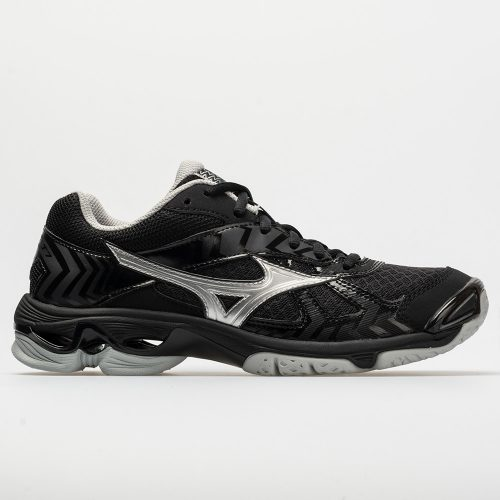 Mizuno Wave Bolt 7: Mizuno Women's Indoor, Squash, Racquetball Shoes Black/ Silver