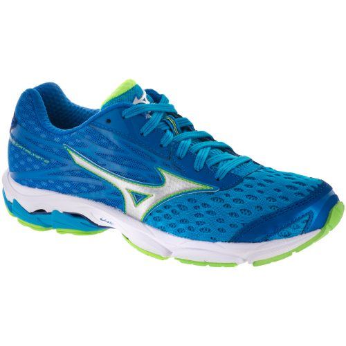 Mizuno Wave Catalyst 2: Mizuno Women's Running Shoes Atomic Blue/Green Gecko/White