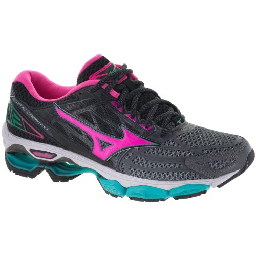 Mizuno Wave Creation 19: Mizuno Women's Running Shoes Castlerock/Pink Glo/Black