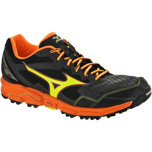 Mizuno Wave Daichi 2: Mizuno Men's Running Shoes Dark Shadow/Clownfish/Safety Yellow