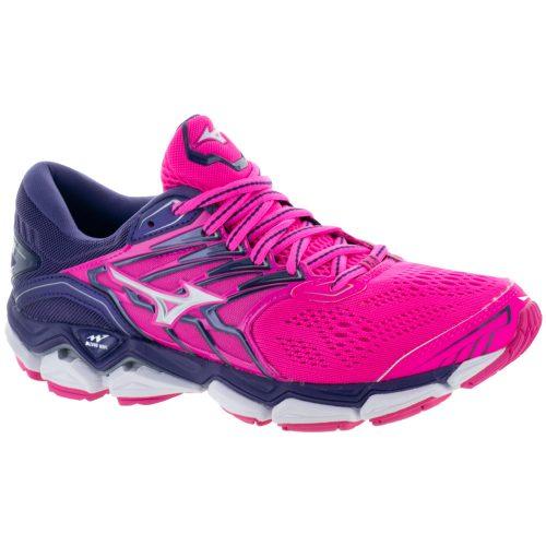 Mizuno Wave Horizon 2: Mizuno Women's Running Shoes Pink Glo/White