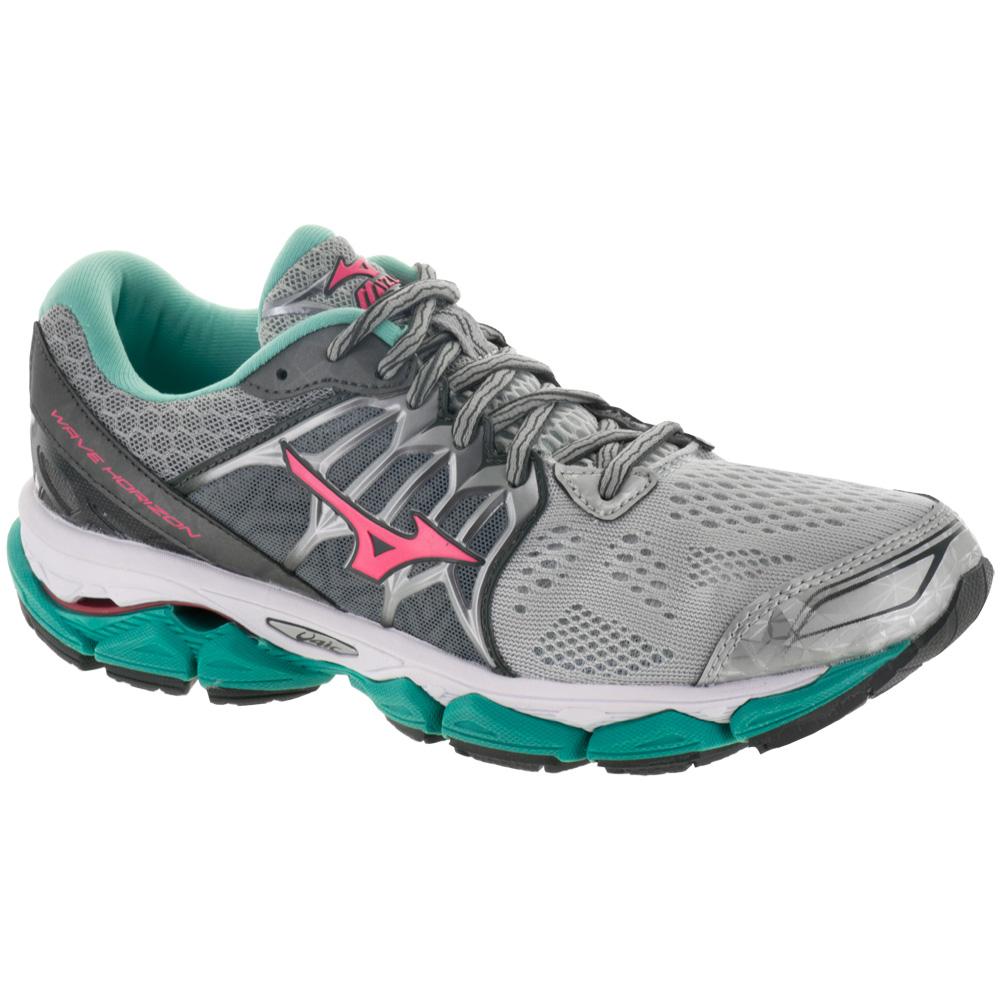 Mizuno Wave Horizon: Mizuno Women's Running Shoes Silver/Diva Pink/Turquoise