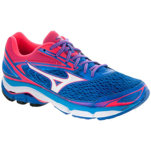 Mizuno Wave Inspire 13: Mizuno Women's Running Shoes Strong Blue/Diva Pink/White