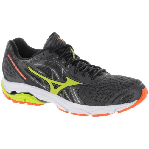 Mizuno Wave Inspire 14: Mizuno Men's Running Shoes Magnet/Lime Punch/Vibrant Orange