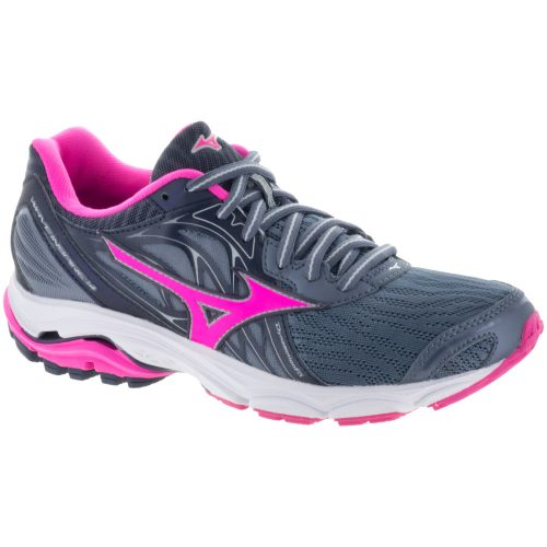 Mizuno Wave Inspire 14: Mizuno Women's Running Shoes Folkstone Gray/Clover