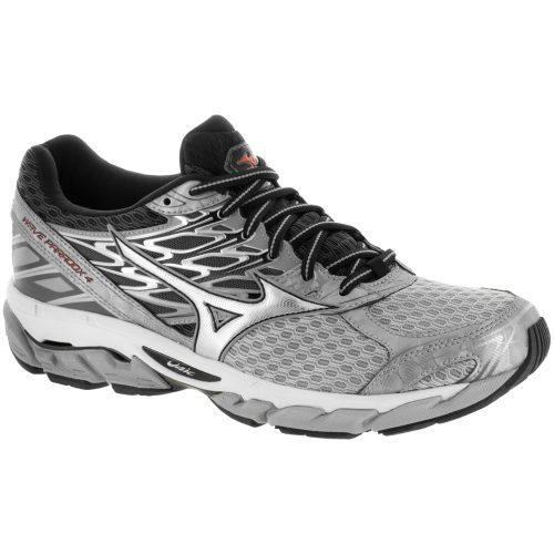 Mizuno Wave Paradox 4: Mizuno Men's Running Shoes Griffin/Silver/Red Orange