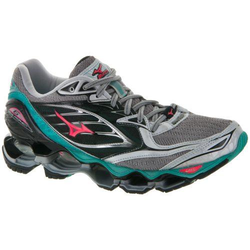 Mizuno Wave Prophecy 6: Mizuno Women's Running Shoes Silver/Turquoise/Diva Pink