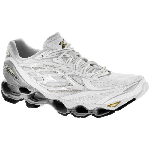 Mizuno Wave Prophecy 6: Mizuno Women's Running Shoes White/Silver/Gold