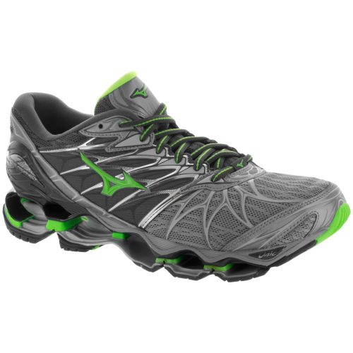Mizuno Wave Prophecy 7: Mizuno Men's Running Shoes Monument/Green Slime