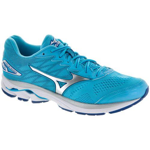 Mizuno Wave Rider 20: Mizuno Women's Running Shoes Blue Atoll/Silver/White