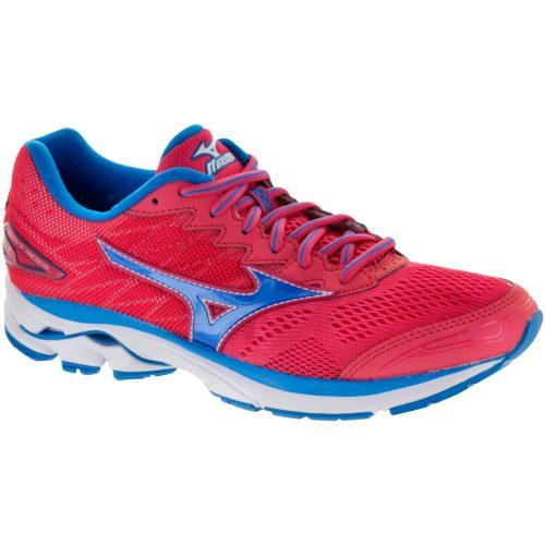 Mizuno Wave Rider 20: Mizuno Women's Running Shoes Paradise Pink/Blue Aster/White
