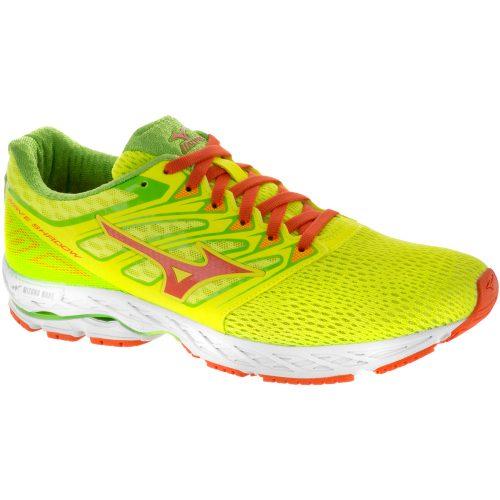 Mizuno Wave Shadow: Mizuno Men's Running Shoes Safety Yellow/Red Orange/Jasmine Green