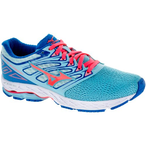 Mizuno Wave Shadow: Mizuno Women's Running Shoes Blue Topaz/Fiery Coral/Imperial Blue