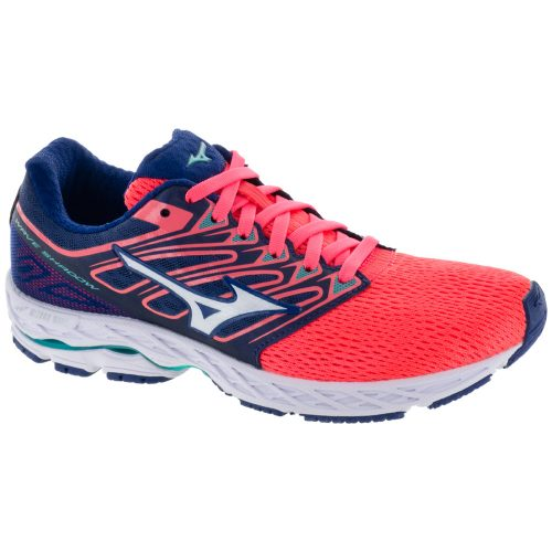 Mizuno Wave Shadow: Mizuno Women's Running Shoes Fiery Coral/White