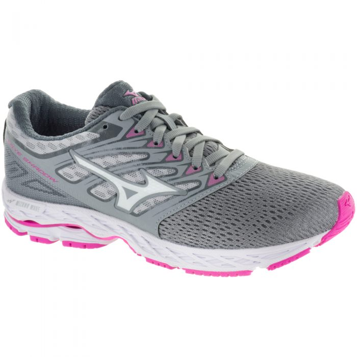 Mizuno Wave Shadow: Mizuno Women's Running Shoes Griffin/White/Electric