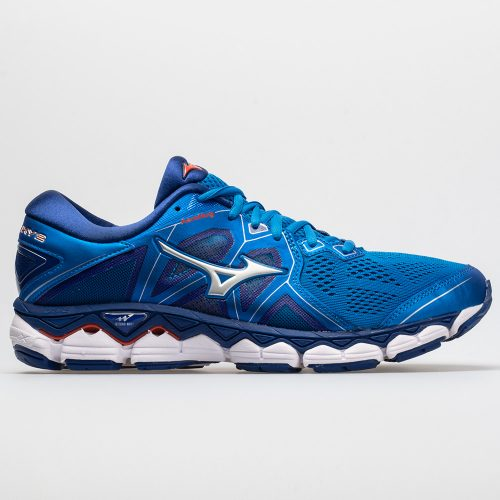 Mizuno Wave Sky 2: Mizuno Men's Running Shoes Directoire Blue/Cherry Tomato