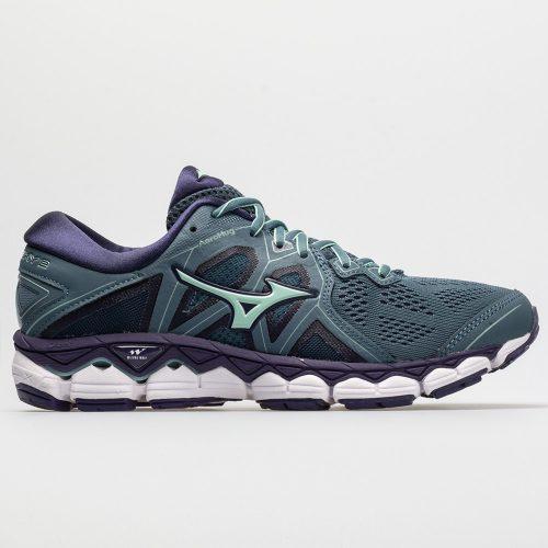 Mizuno Wave Sky 2: Mizuno Women's Running Shoes Blue Mirage/Purple Plumeria