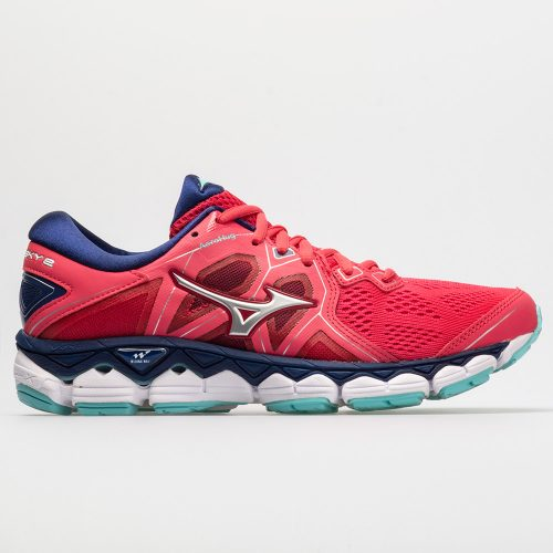 Mizuno Wave Sky 2: Mizuno Women's Running Shoes Teaberry/Blue Depths