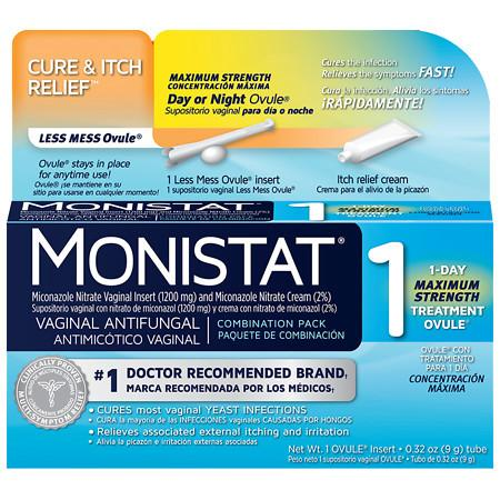Monistat 1 Day or Night Combination Pack Vaginal Antifungal Treatment - 1 pack