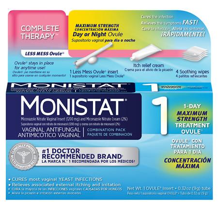 Monistat 1 Vaginal Antifungal Combination Pack - 1 treatment