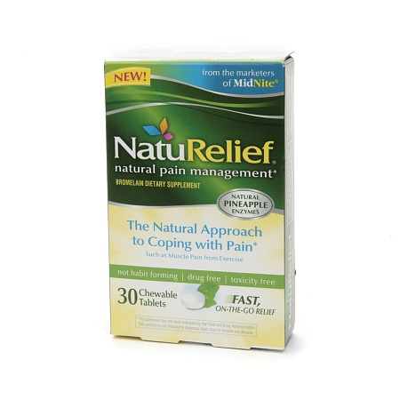 NatuRelief CHEWABLE TABLETS - 30 ea
