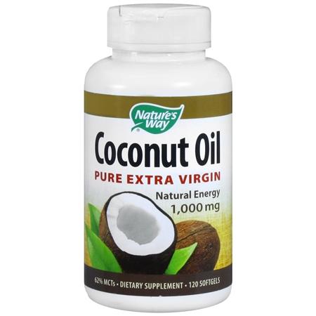Nature's Way Coconut Oil Pure Extra Virgin 1,000mg, Softgels - 120 ea