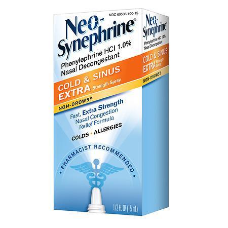 Neo-Synephrine Cold & Sinus Extra Strength Nasal Decongestant Spray - 0.5 fl oz