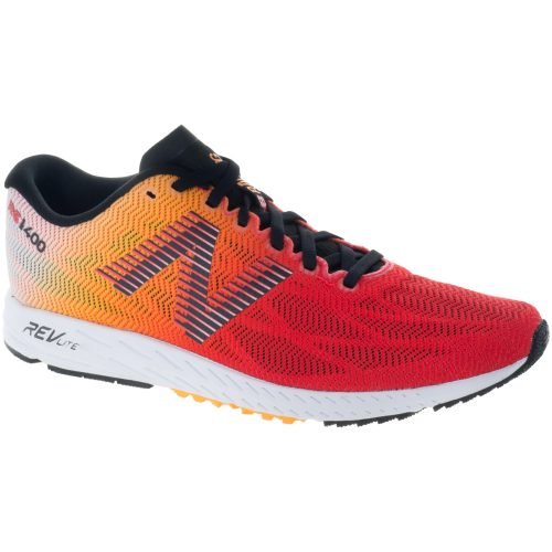 New Balance 1400v6: New Balance Men's Running Shoes White Munsell/Flame/Black