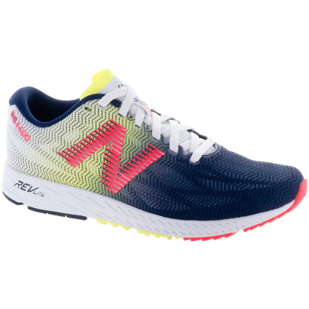 New Balance 1400v6: New Balance Women's Running Shoes White Munsell/Pigment/Vivid Coral