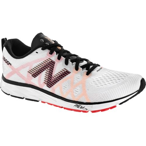 New Balance 1500v4: New Balance Men's Running Shoes White Munsell/Black/Flame/Impulse