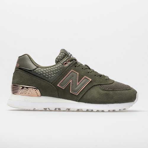 New Balance 574 All Day Rose: New Balance Women's Running Shoes Military Foliage Green