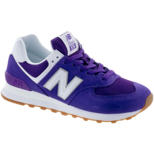 New Balance 574 Core+: New Balance Women's Running Shoes Purple Mountain/White