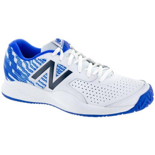 New Balance 696v3: New Balance Men's Tennis Shoes White/Royal