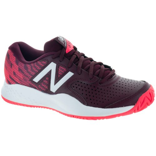 New Balance 696v3: New Balance Women's Tennis Shoes Oxblood/Vivid Coral