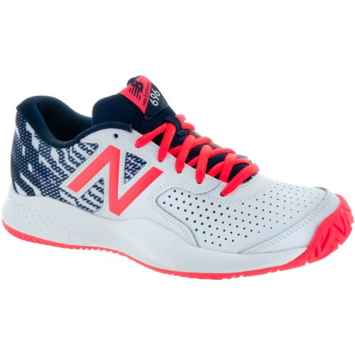New Balance 696v3: New Balance Women's Tennis Shoes Pigment/Vivid Coral